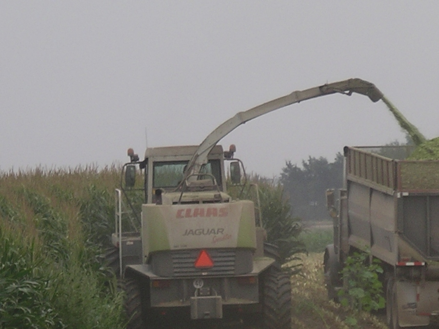 Claas silage cutter