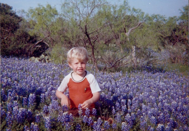 Middle son in Brownwood, 1979.