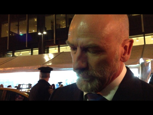 Graham MacTavish at The Hobbit Red Carpet. my cap