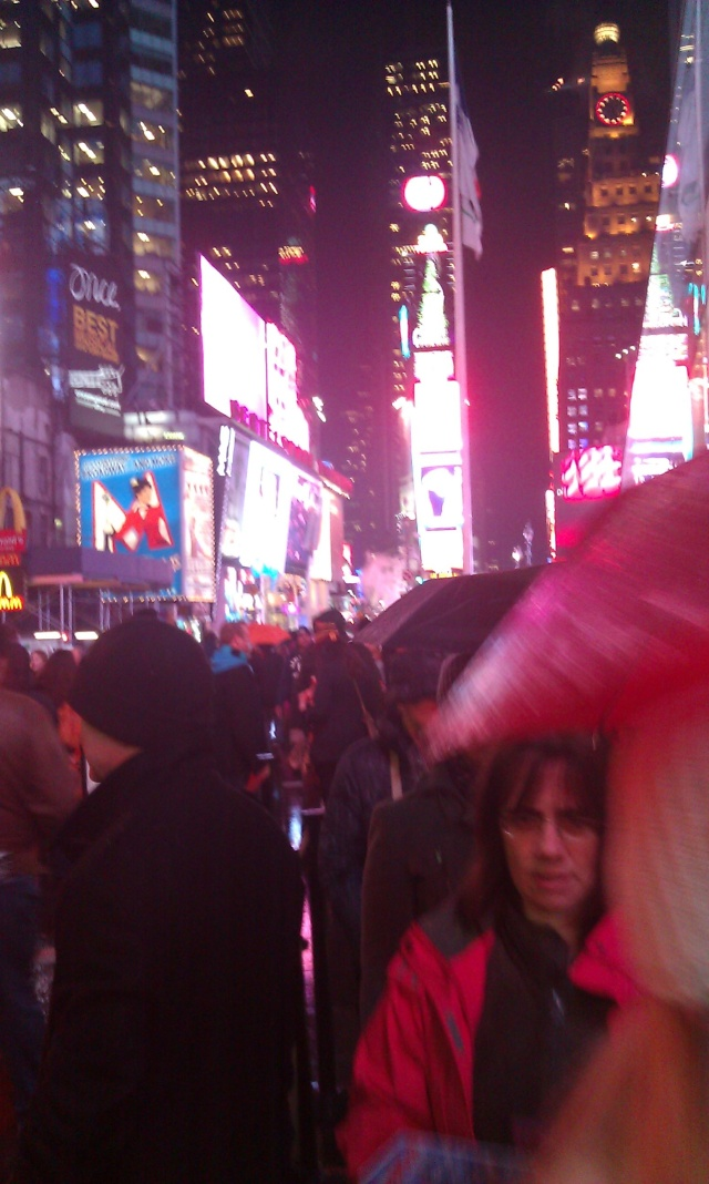 Times Square...holy cow.  I didn't know anyone there!!