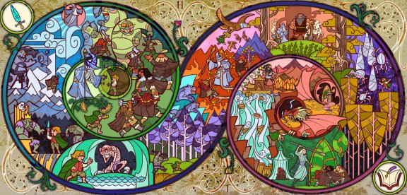 A Long Long Adventure with Hobbit by Jian Guo aka breathing2004. Photo courtesy of devianart.com