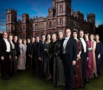 Downton Abbey Season 3 Cast. Photo courtesy of PBS.