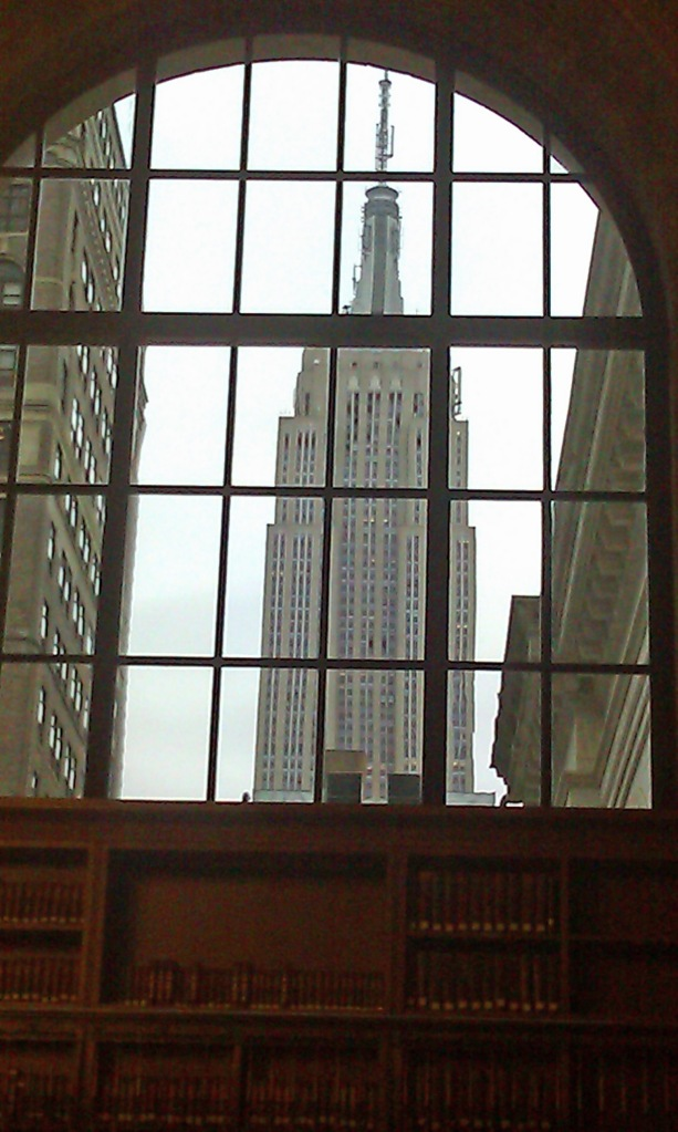 Empire State Building in Library