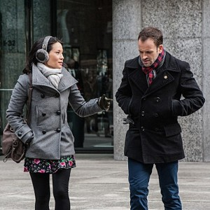 Jonny Lee Miller as Sherlock and Lucy Liu as Watson. Photo courtesy of CBS Broadcasting Inc.