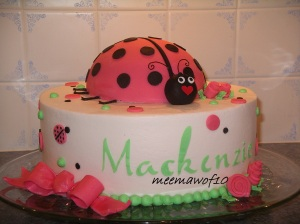 I did this one...should've been a ladybug in grass right?  For some reason, ladybug in mud doesn't seem quite right?