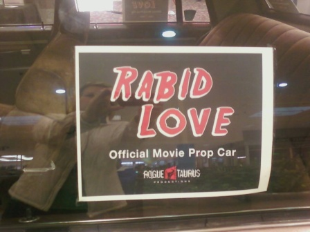 Sign on the sheriff's car. Photo courtesy of Candace Ruff.