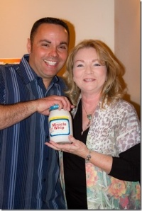 Lance Ziesch and the Miracle Whip Lady. Photo courtesy of Tammy Ewy.