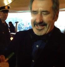 William Kircher aka Bifur signs a photo for @nancyjohnson1 in NYC.  My cap.