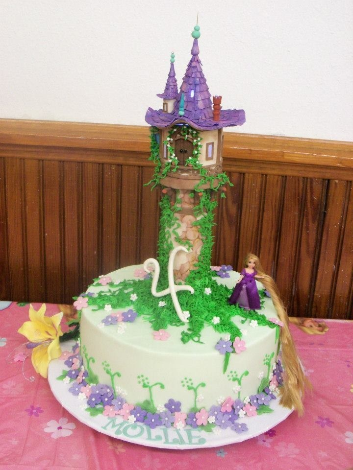 So, I give you the Tangled cake. The birthday girl was delighted and ...