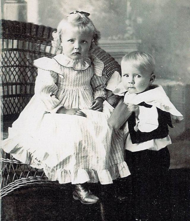 Big Boss's Grandfather, Charles Chester Silas and his sister, Mabel.