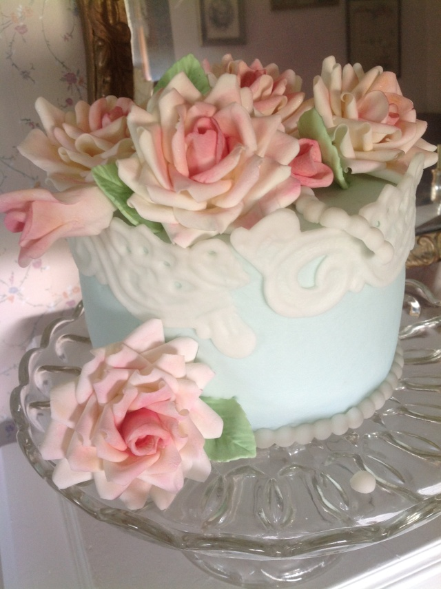 """Inspired by Tracy at Cotton and Crumbs, probably my favorite British cake artist EVER!! I'm not """"quite"""" up to her level. Ahem. Yeah, that was a severe understatement as I'm no where close....  :D"""