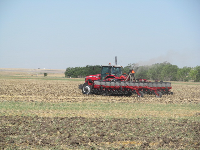 After a field is chopped, our tractors pull in to plant another crop.