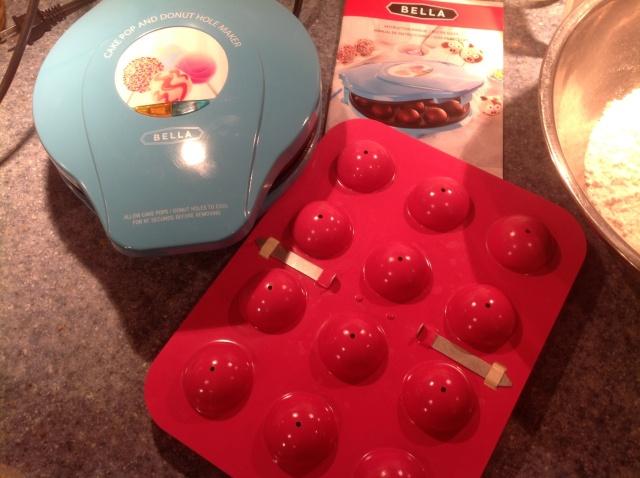 Blue waffle cake ball maker and cake ball pan.