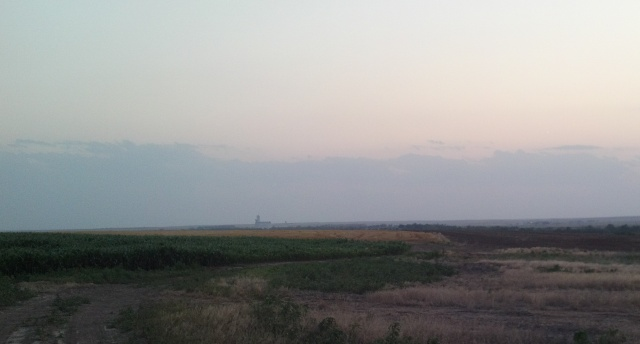 I took this right at dusk as Big Boss and I were moving trucks around on the last day of harvest.