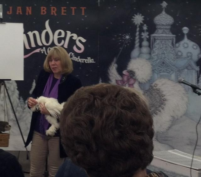 Jan and her Silkie Chicken.