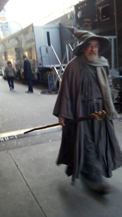 There goes Gandalf!