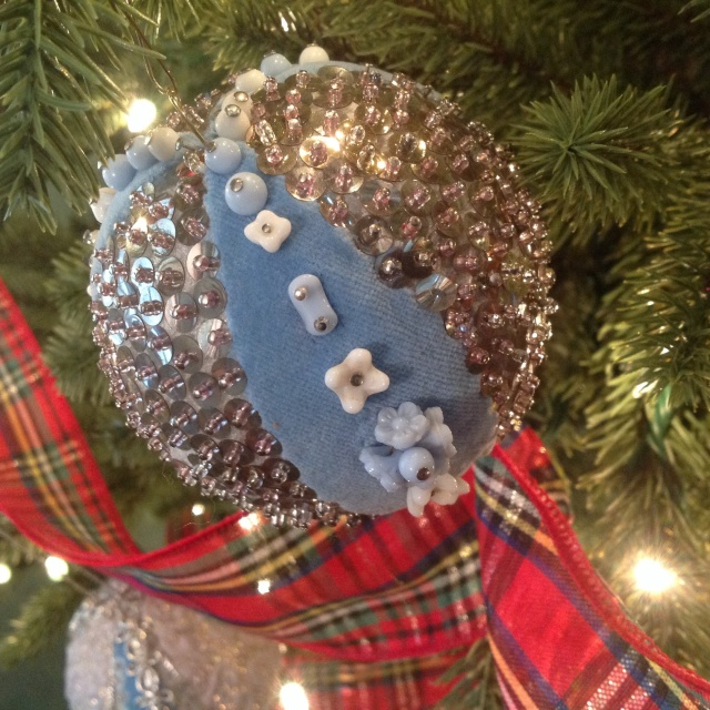 Blue Baby Necklace Ornament