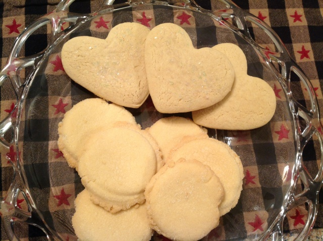 Heart cookies are Granny's Sugar Cookies, link below. Round cookies are the subject of this post!