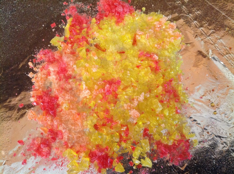 crushed candy melted for fire
