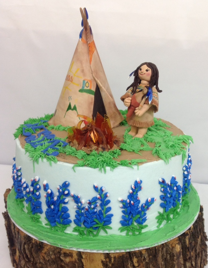 Legend of the Bluebonnet cake