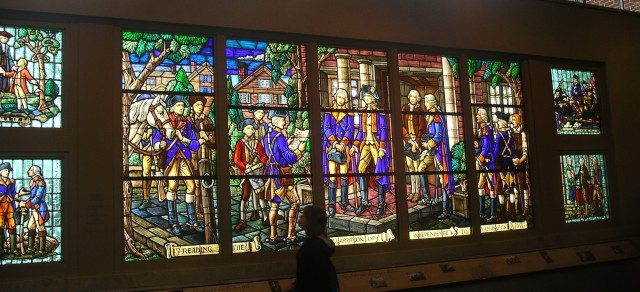 Stained glass mural at Washington Museum