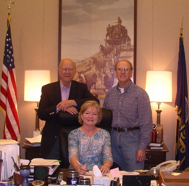 Meemaw and Paw saying howdy to Sen. Pat Roberts.