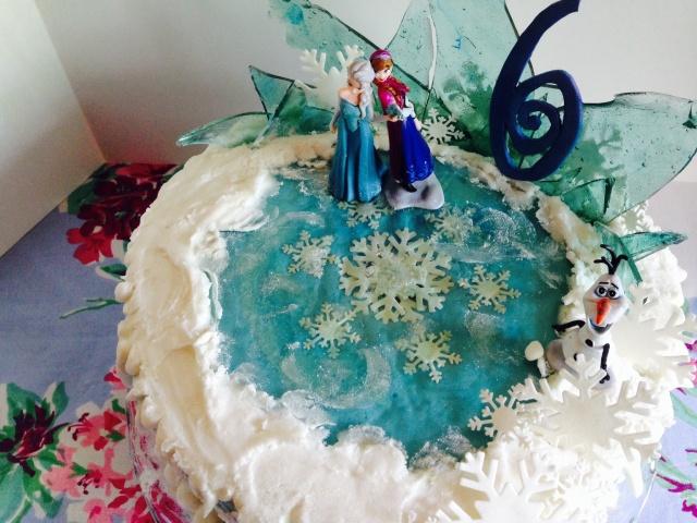 Frozen cake on Ice