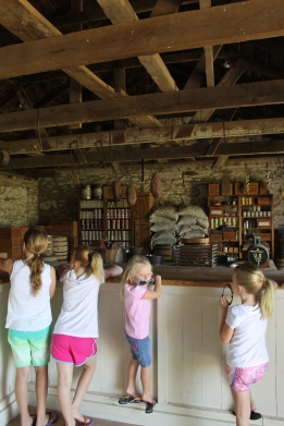 The girls were fascinated with the commissary.