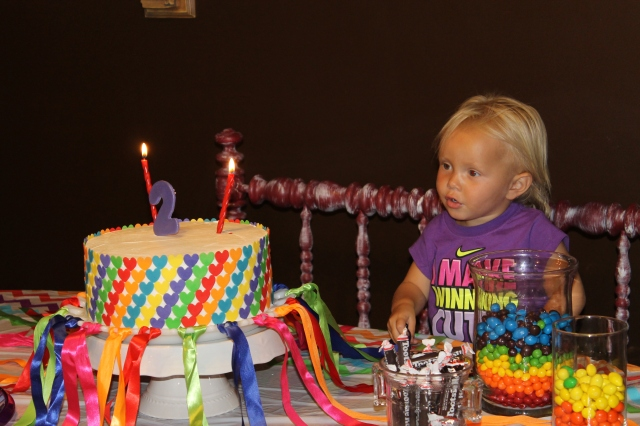 "She sang ""Happy Birthday"" to herself!"