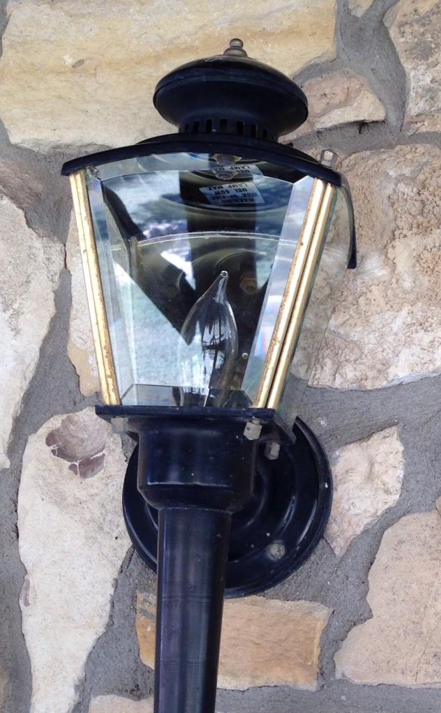 A clean porch light