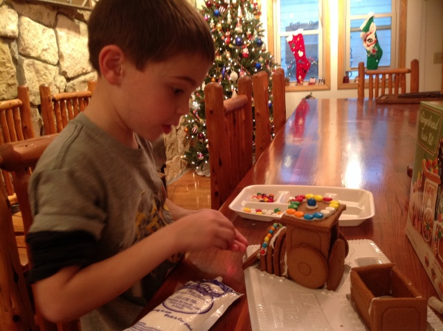 Kody and gingerbread train
