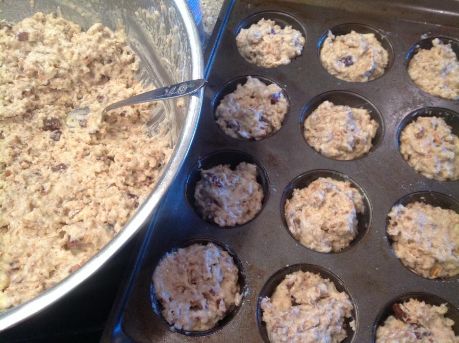 recipe date nut muffins