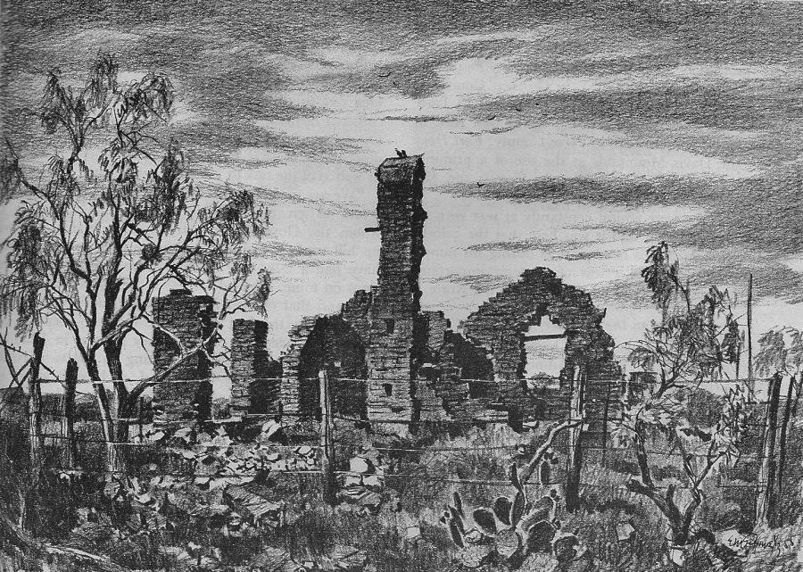 Fort Griffin sketch E. M. Schiwetz, Texas