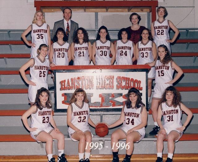 1995-1996 Hanston Girls Basketball Team