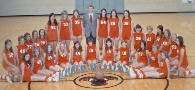 Robert Lee Girls Basketball Team, 1974
