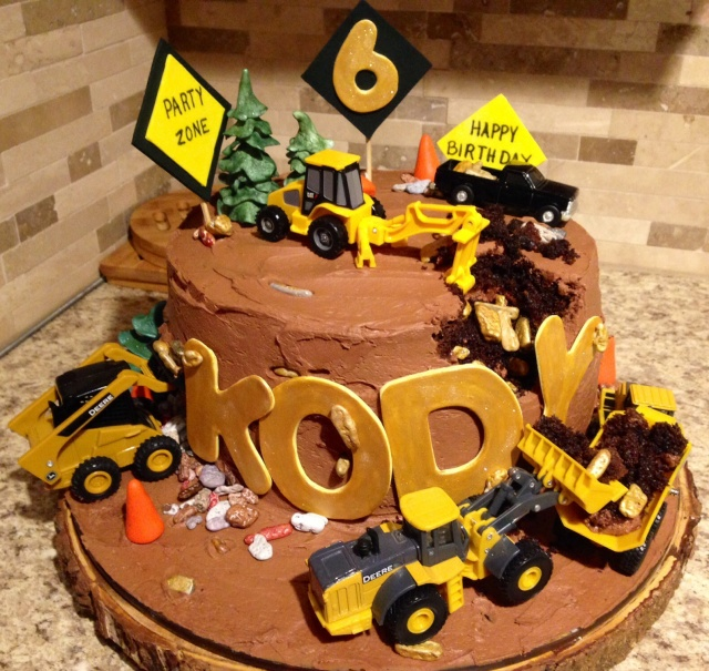 Gold rush construction cake