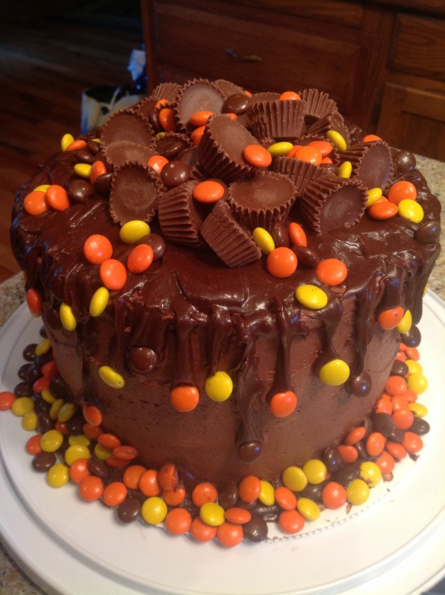 candy cake, Reece's cake